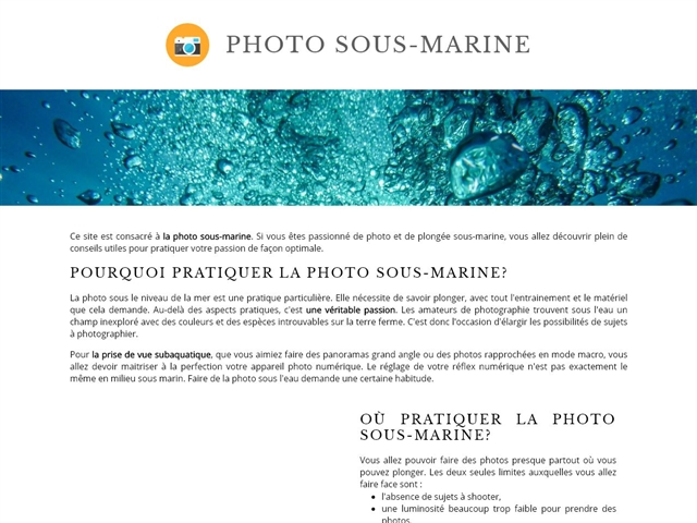 Photo Bio Sous-Marine