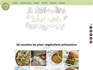 Echos Verts : 35 Recettes de Plats Végétaliens