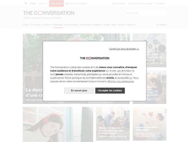 The Conversation : Education