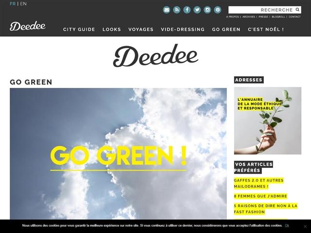 Deedee : Go Green