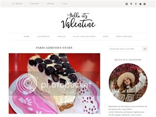 Hello it's Valentine : Paris Bonnes Adresses