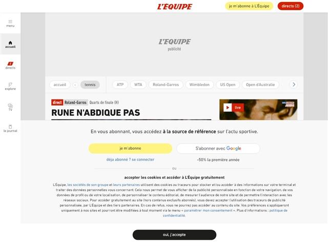 L'Équipe : Tennis