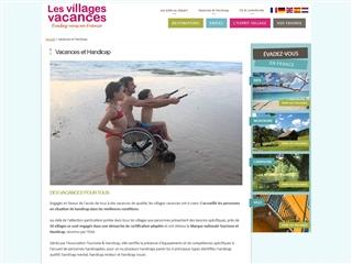 Les Villages Vacances et le Handicap