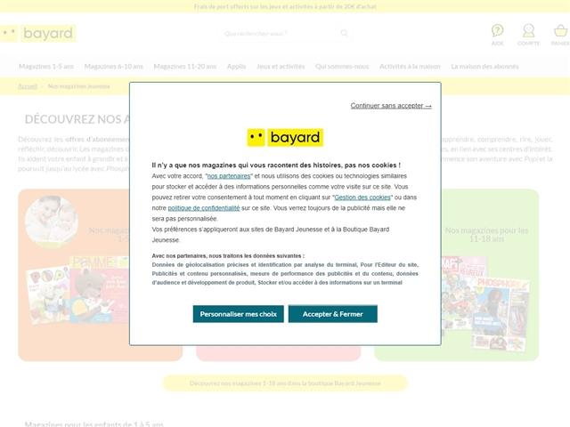 Bayard Jeunesse : Magazines Jeunesse