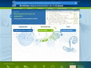 Creuse (23) - Archives départementales