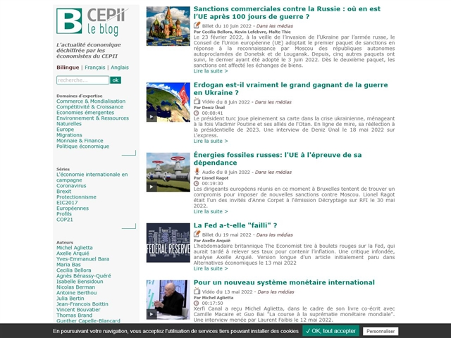 CEPII : Blog