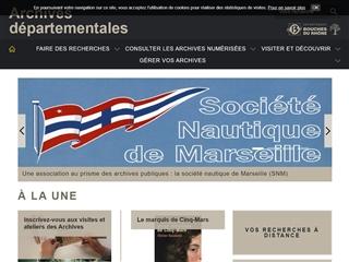 Bouches-du-Rhône (13) - Archives départementales