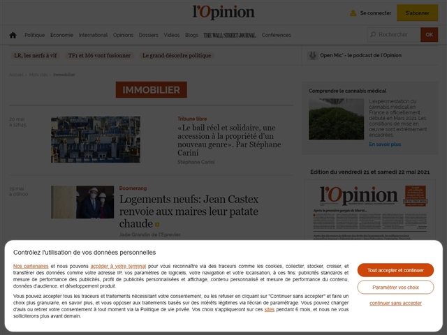L'Opinion : Immobilier