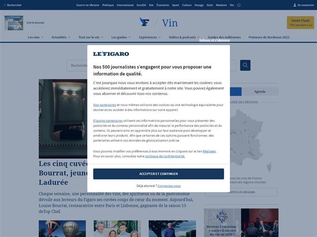 Le Figaro : Vins