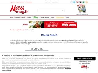 MAXImag : Loisirs vacances / nouveautés
