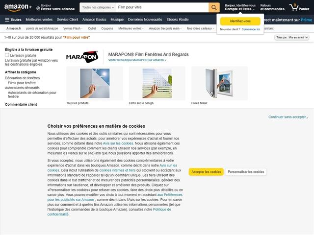 Amazon : Film pour vitre
