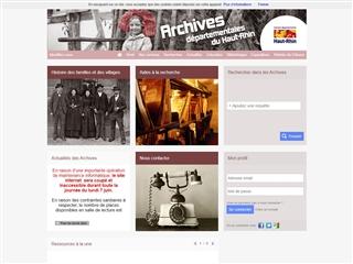 Haut-Rhin (68) - Archives départementales