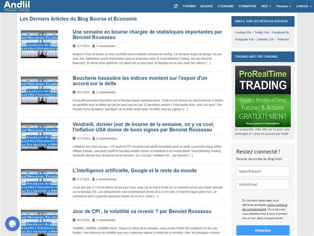 Andlil Trader Inside - Blog Bourse et Economie