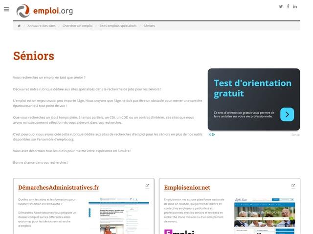 Emploi.org : Sites pour les Seniors