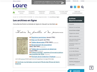 Loire (42) - Archives départementales