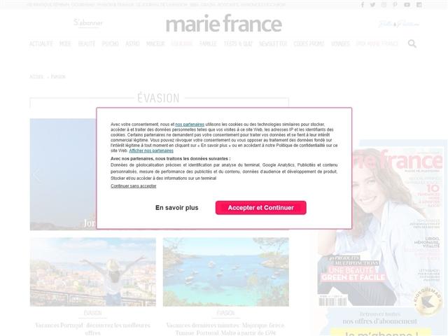 Marie France : évasion