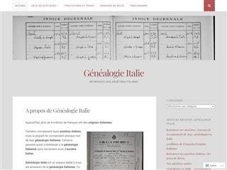 Généalogie Italie