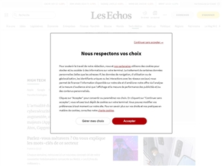 Les Echos : High Tech