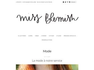 Miss Blemish : Mode
