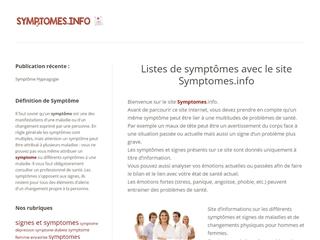 Symptômes info