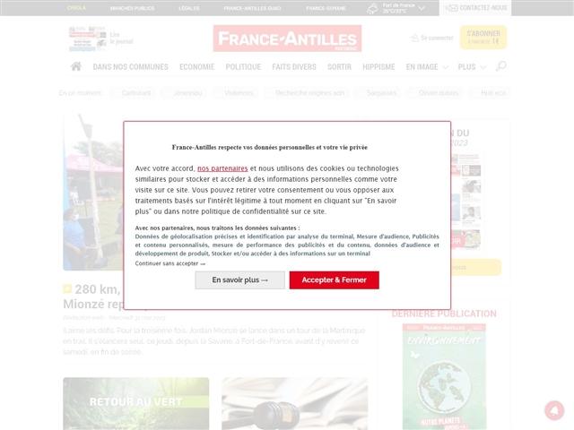 FRANCE-ANTILLES : MARTINIQUE