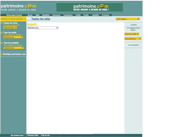 Patrimoine.com : Impôts