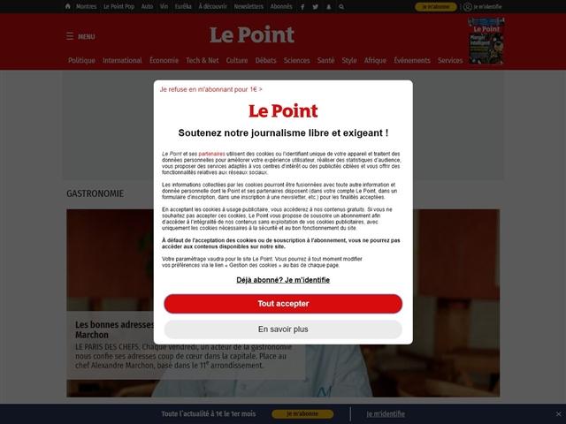 Le Point : gastronomie