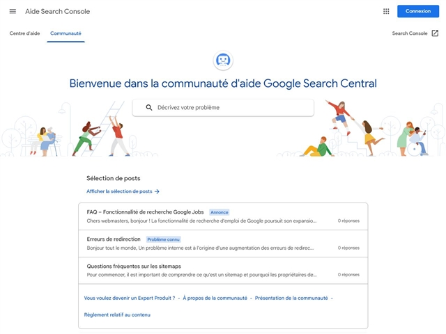 Google : Forum d'aide pour les webmasters