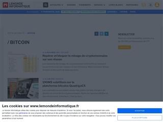 Le Monde Informatique : Bitcoin
