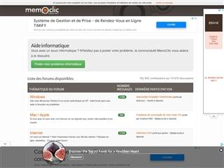 MemoClic : Forum